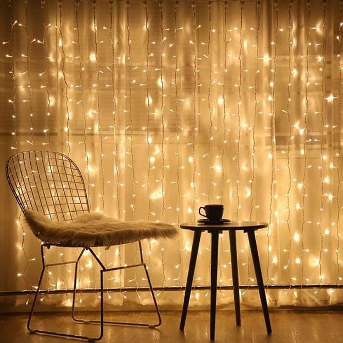 Cortina de Luzinhas com 300 LED 3x2m 8 Funções | Formosinha