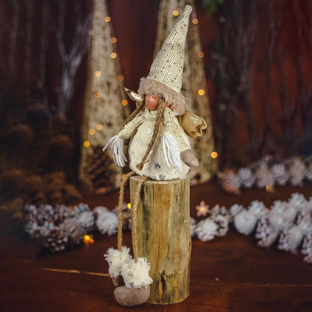 Enfeite de Natal Anjo Jolie Dourado 52Cm |  Formosinha