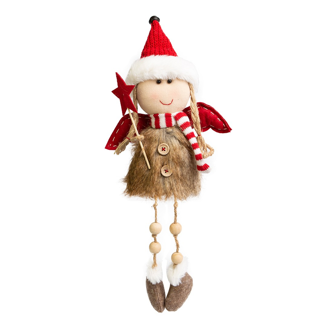 Enfeite de Natal Anjo Menina Soffy Miçangas | Linha Natal Encantado Formosinha