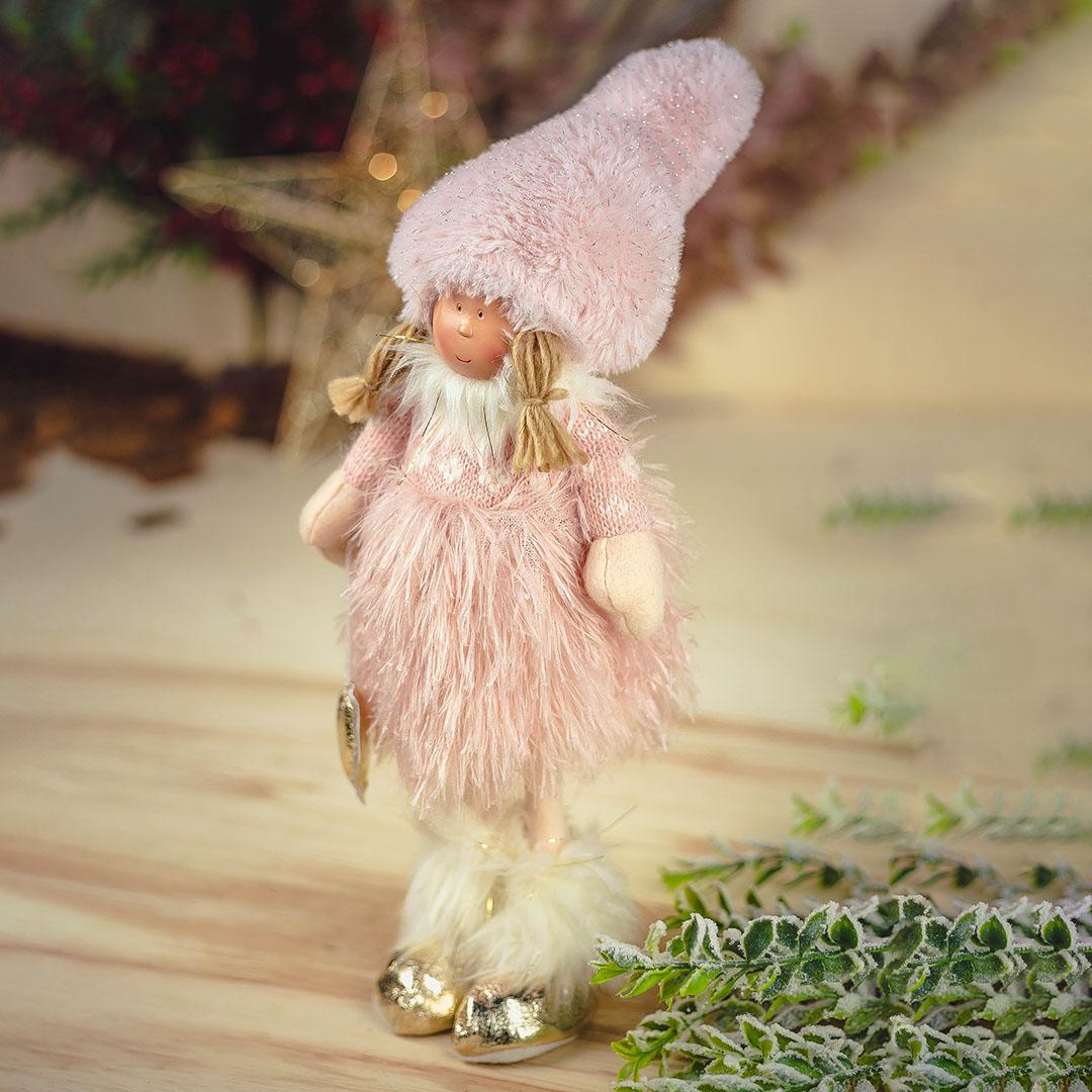 Enfeite de Natal Boneca Jolie Rosa 42Cm |  Formosinha