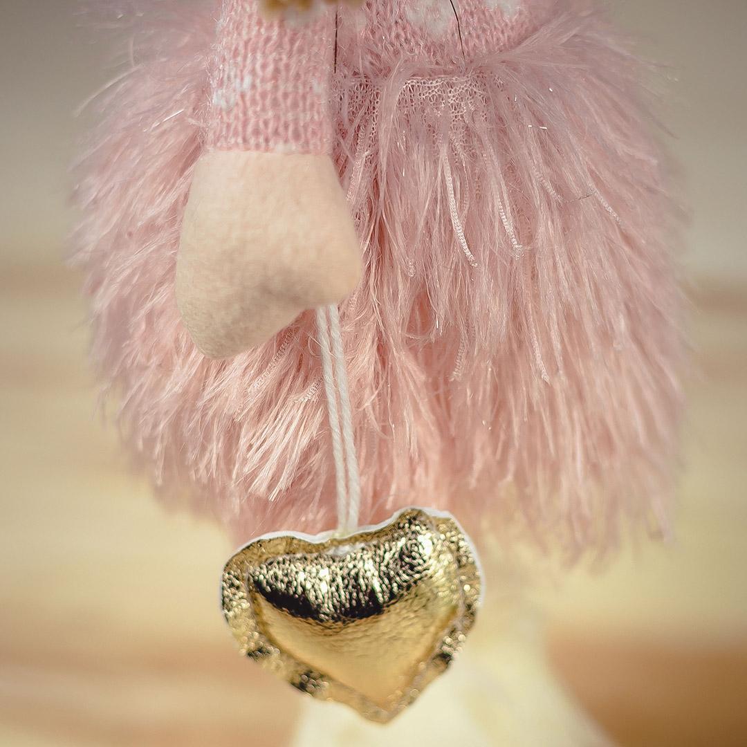 Enfeite de Natal Boneca Jolie Sentada Rosa 50Cm    Formosinha