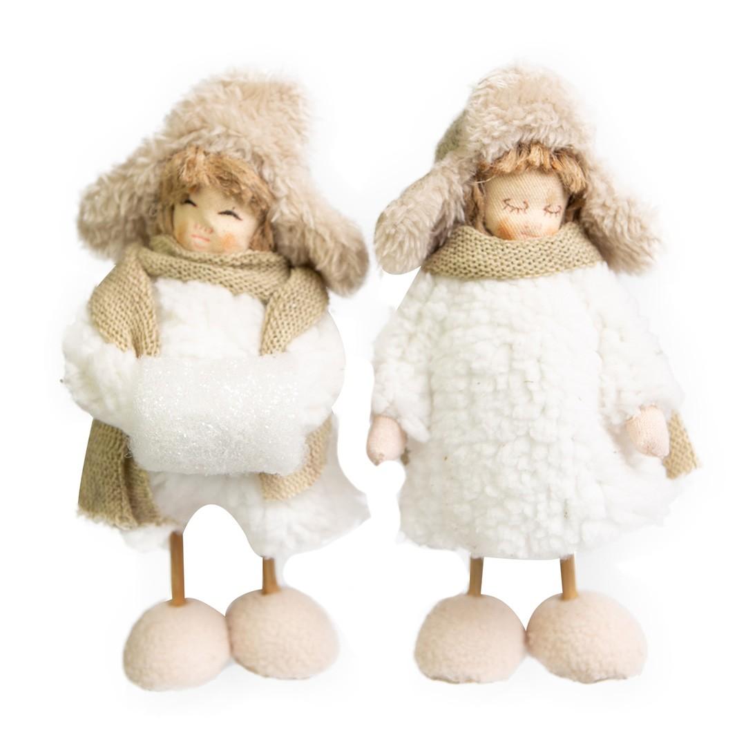 Enfeite de Natal Casal Cotton 17cm | Linha Natal Encantado Formosinha