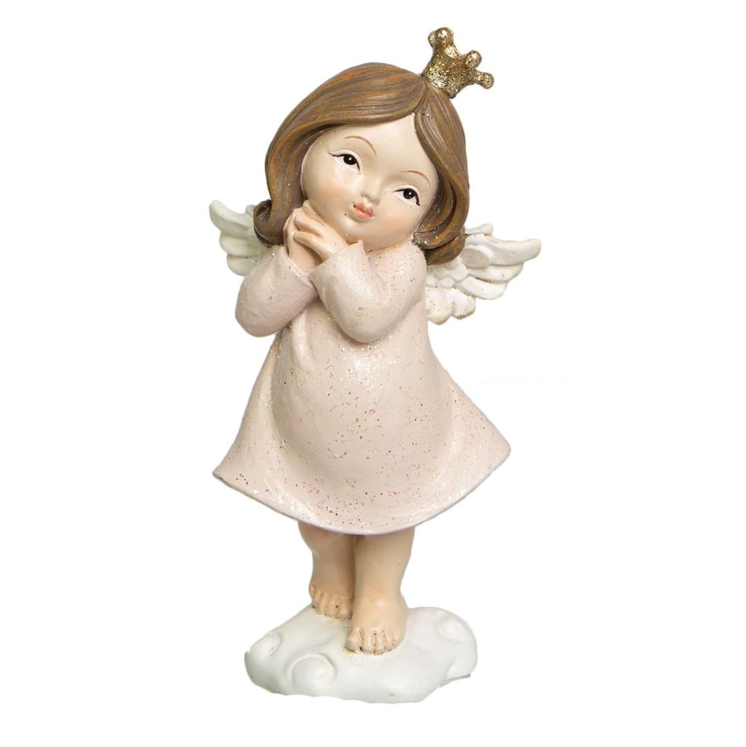 Enfeite de Natal de Resina Anjinho Menina 11cm | Linha Natal Encantado Formosinha