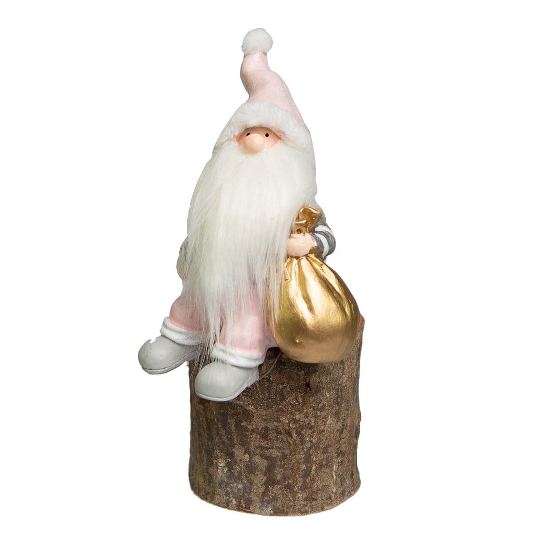 Enfeite de Natal de Resina Papai Noel Polly 18cm | Linha Natal Encantado Formosinha