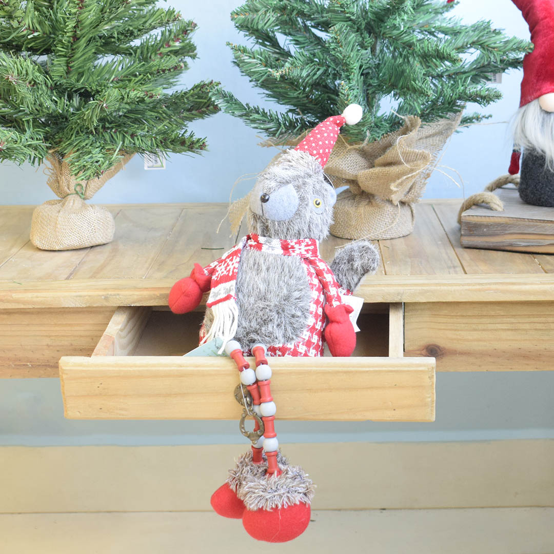 Enfeite de Natal Esquilo com Perninhas de Miçanga | Linha Natal Encantado