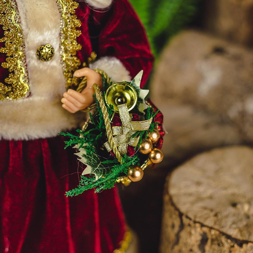 Enfeite de Natal Mamãe Noel Luxo 45 cm | Linha Natal Encantado
