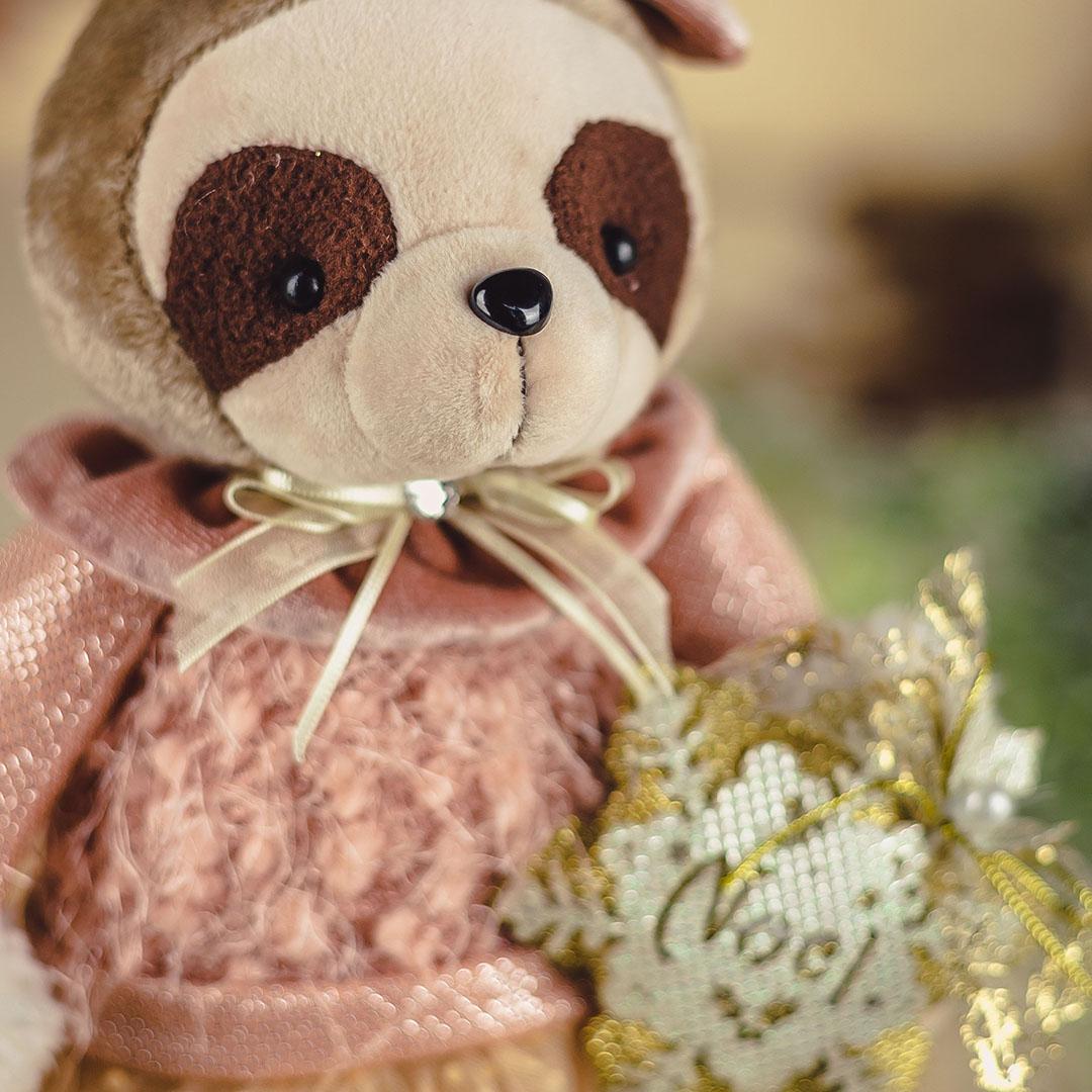 Enfeite de Natal Menina Preguiça com Renda 34cm | Natal Formosinha