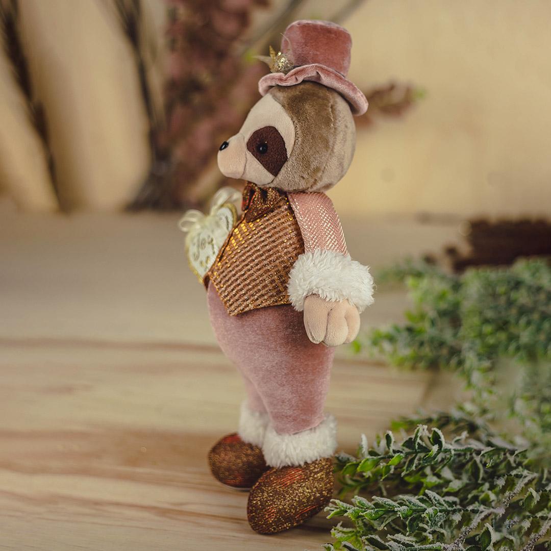 Enfeite de Natal Menino Preguiça de Gravata 38cm | Natal Formosinha