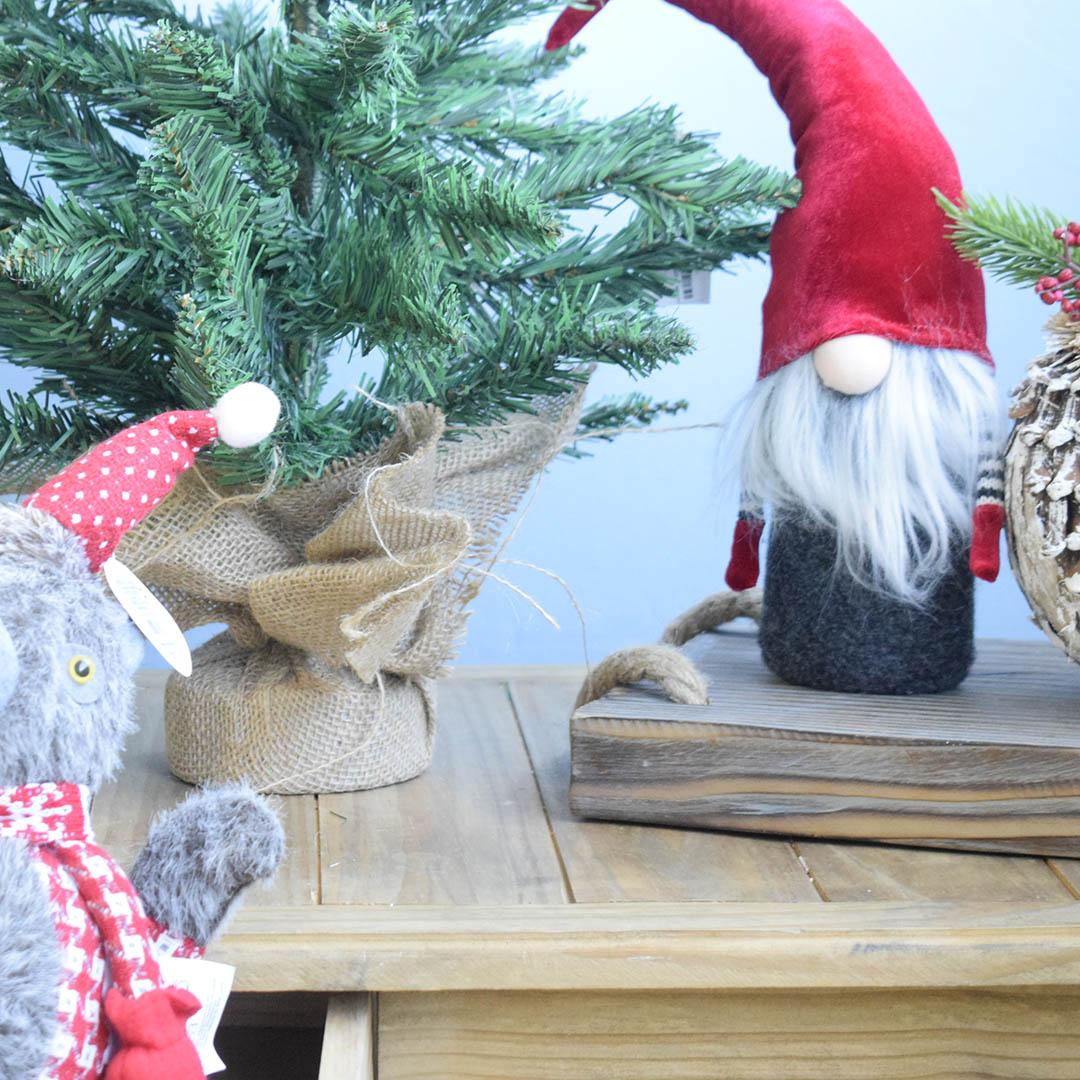 Enfeite de Natal Papai Noel Cloud Vermelho e Cinza | Linha Natal Encantado