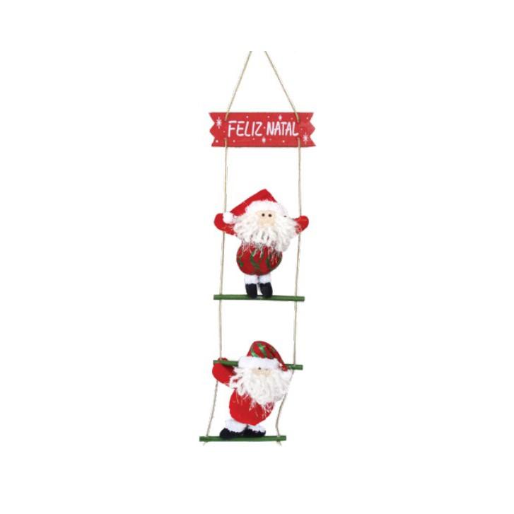 Enfeite de Natal Papai Noel na Escada | Linha Natal Encantado