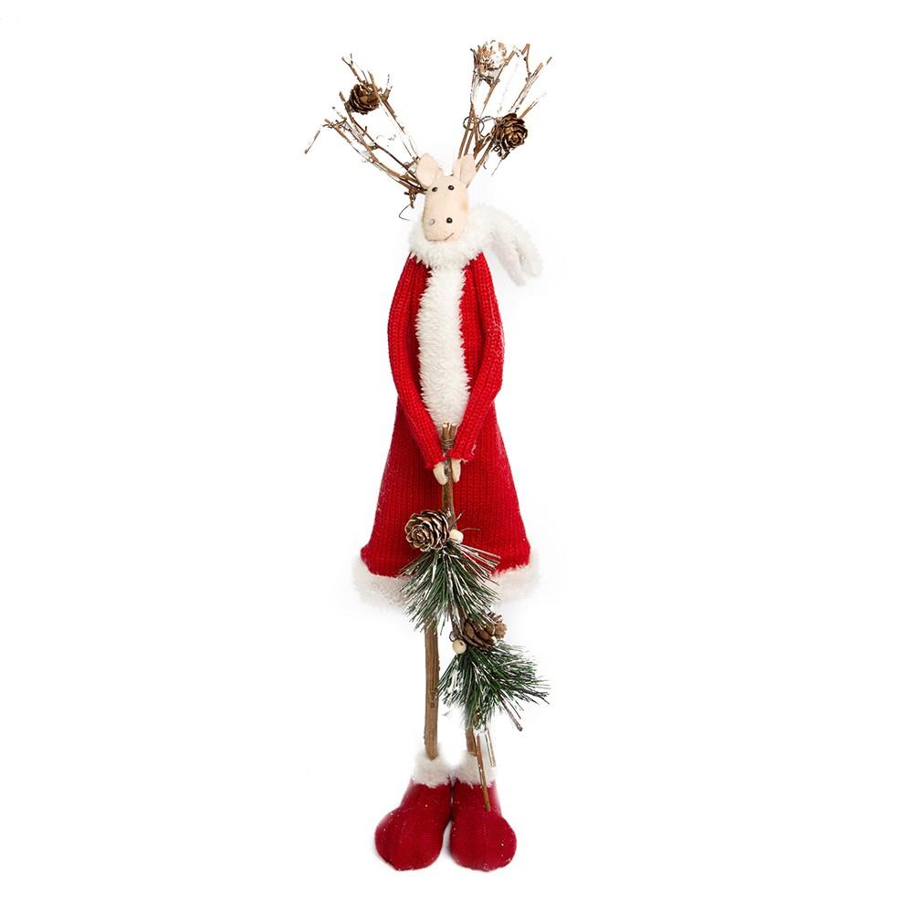 Enfeite de Natal Rena Soffy Menina Vermelho | Linha Natal Encantado Formosinha