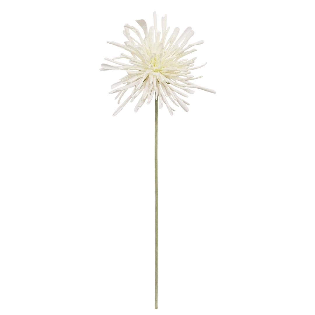 Flor Artificial Crisântemo Creme Toque Real | Formosinha