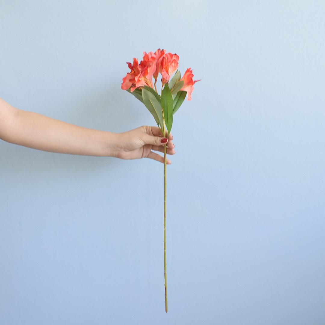 Flor Artificial Haste de Astromélia Vermelha| Linha Permanente Formosinha