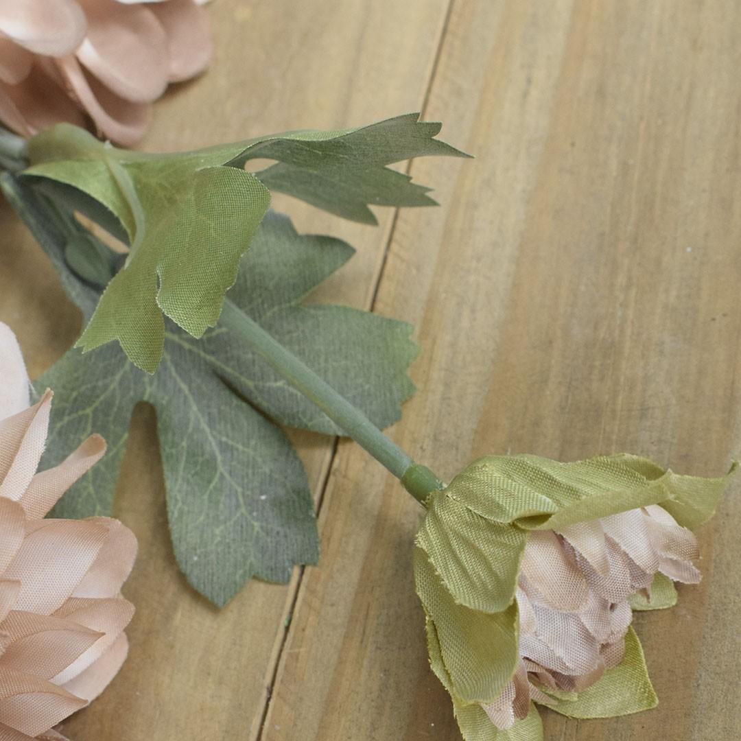 Flor Artificial Haste de Dália Envelhecida | Linha Permanente Formosinha