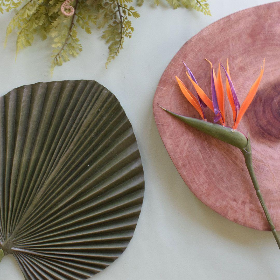 Flor Estrelícia Artificial Laranja | Linha Permanente Formosinha