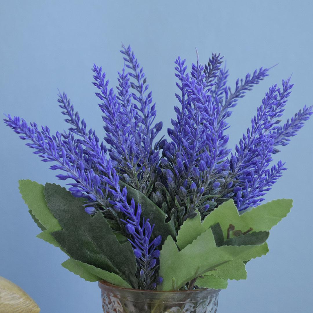 Flores artificiais Arranjo de Lavandas no Vaso Âmbar  Formosinha