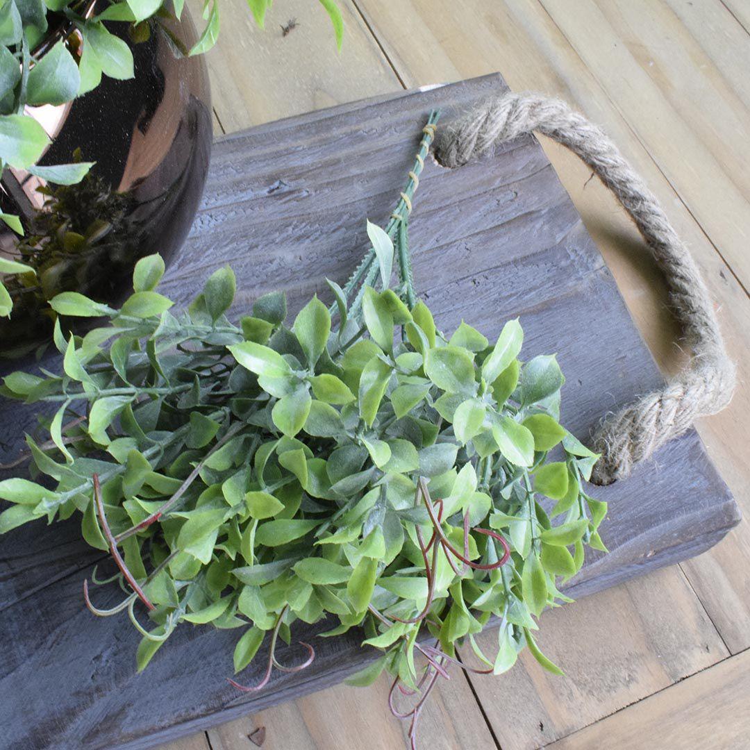 Flores Artificiais Buquê de Folhagem Artificial Pick Peperômia Toque Real | Linha Permanente Formosinha