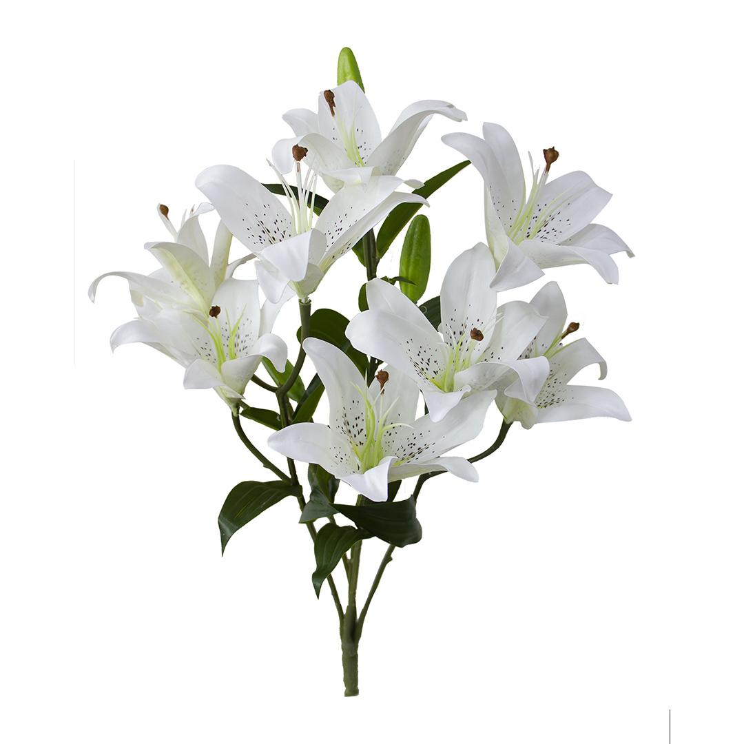 Flores Artificiais - Buquê de Lírios Brancos |Linha permanente Formosinha