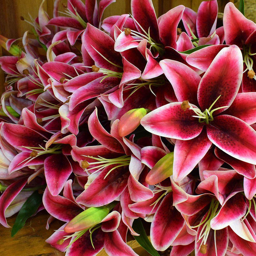 Flores artificiais Buquê de Lírios Pink Artificial|Linha permanente Formosinha