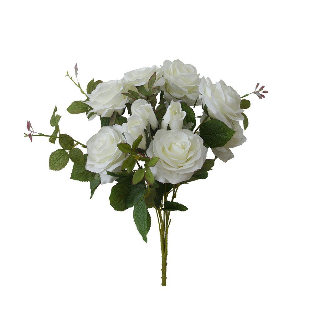 Flores artificiais Buquê de Rosas Diana Branca|Linha Permanente Formosinha