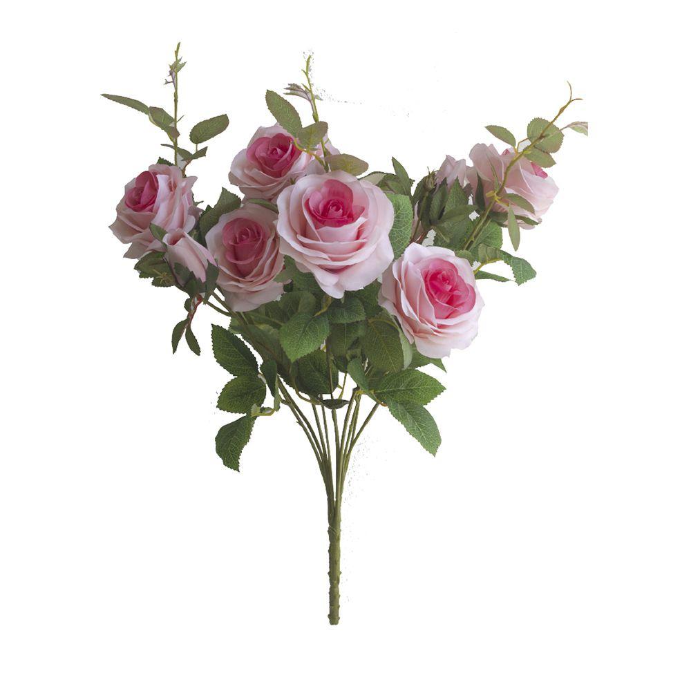 Flores artificiais Buquê de Rosas Diana Pink|Linha permanente Formosinha