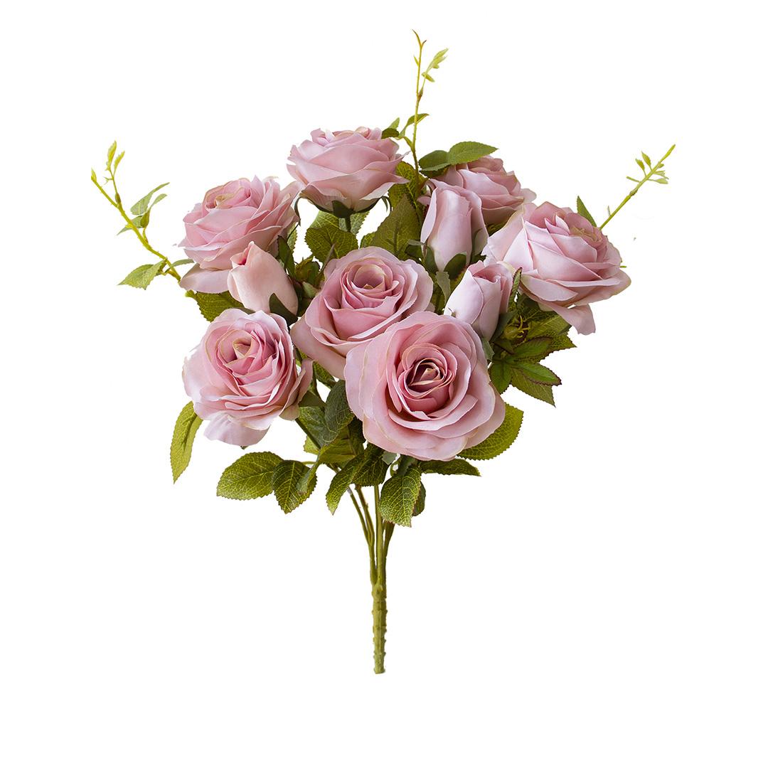 Flores Artificiais - Buquê de Rosas Diana Rosa | Linha Permanente Formosinha
