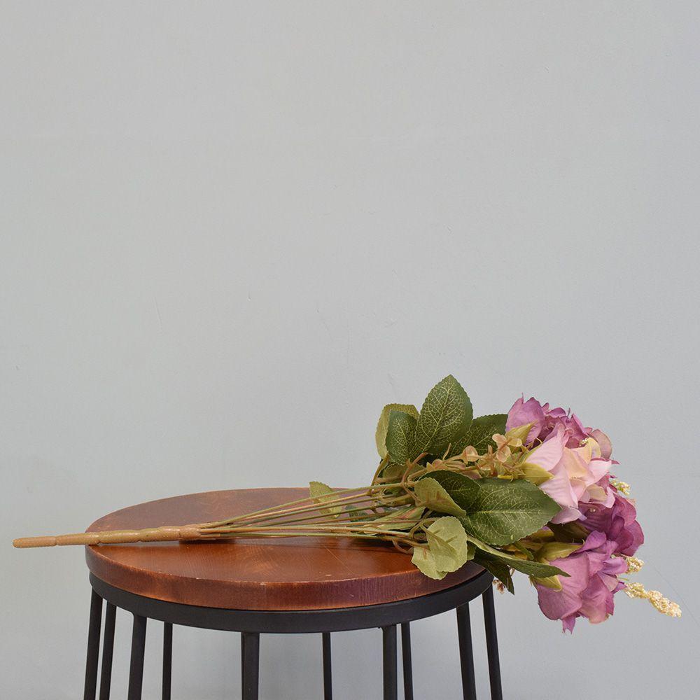 Flores artificiais Buquê de Rosas Envelhecidas Lilás Artificial|Linha permanente Formosinha