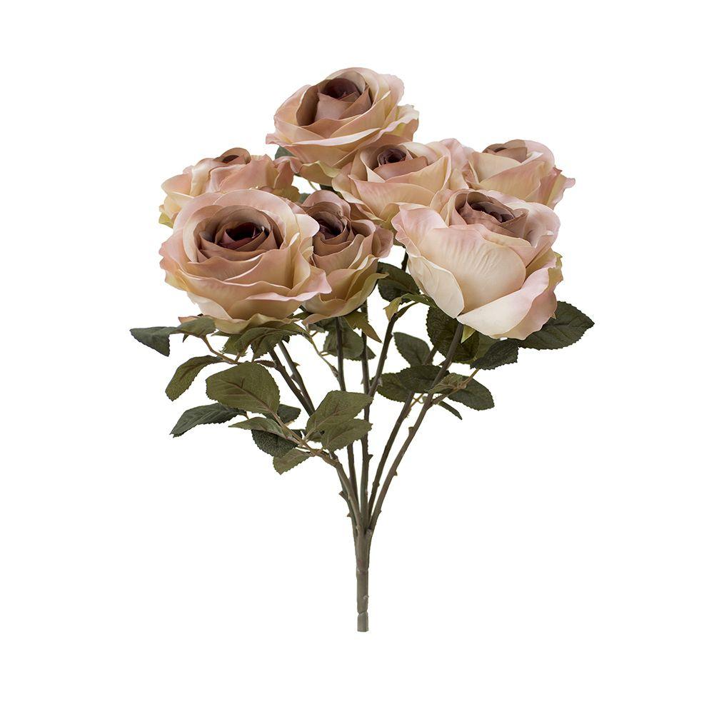 Flores artificiais Buquê de Rosas Envelhecidas Rosê |Linha permanente Formosinha