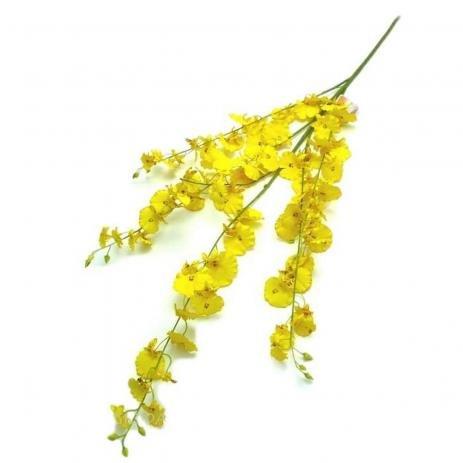 Flores Artificiais - Haste de Orquídea Chuva De Ouro |Linha Permanente Formosinha