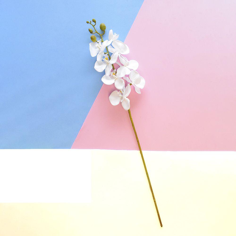 Flores Artificiais Haste de Orquídea Média Branca | Linha Permanentes Formosinha