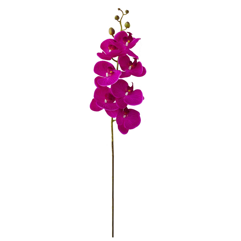 Flores Artificiais - Haste de Orquídea Pink 3D | Linha permanente Formosinha
