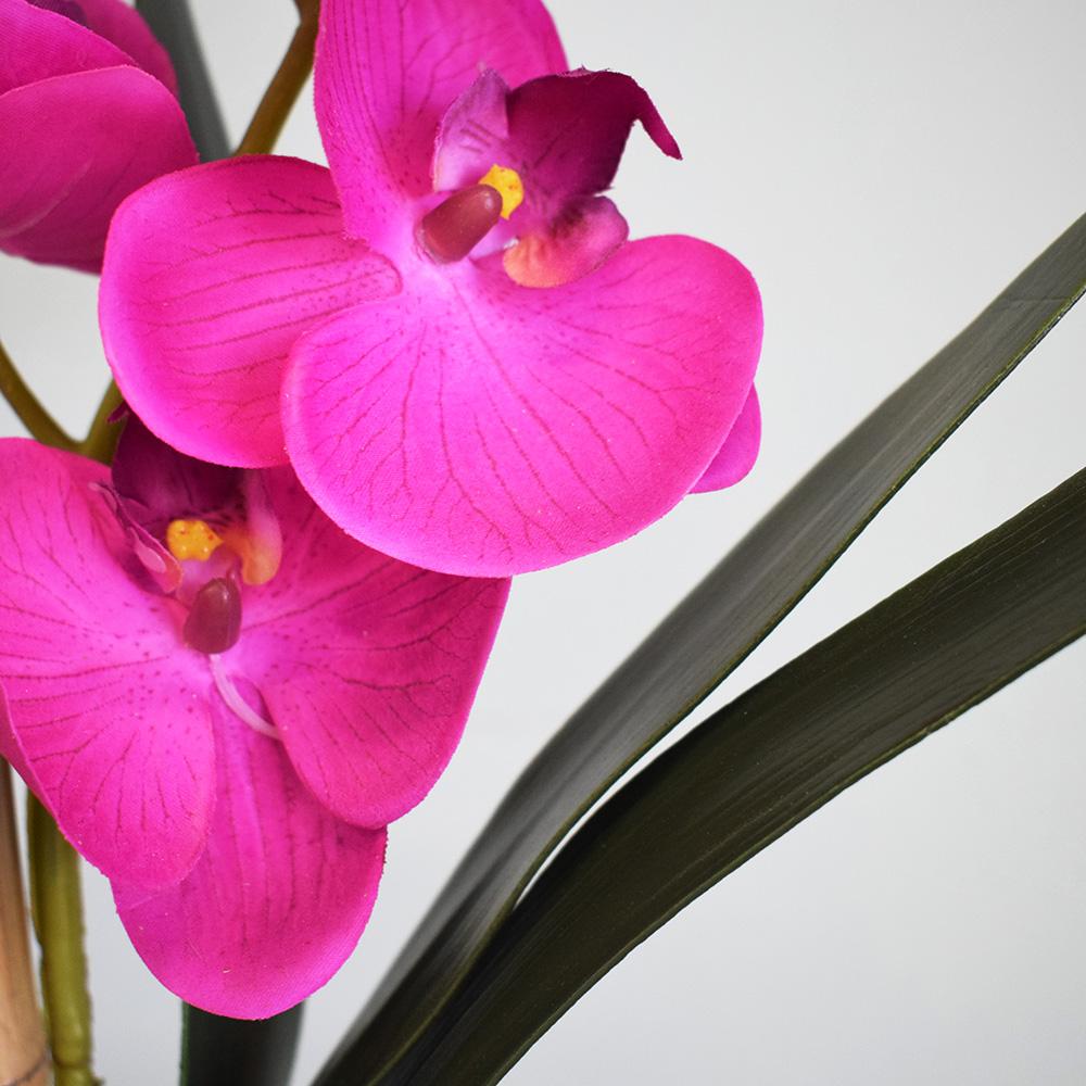 Flores Artificiais - Haste de Orquídea Pink 3D   Linha permanente Formosinha