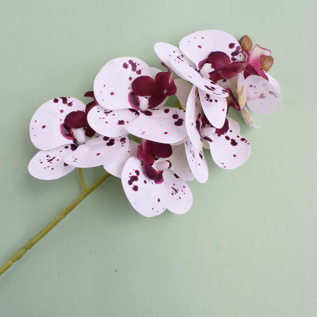 Flores Artificiais - Haste de Orquídea Tigre 3D | Linha Permanente Formosinha