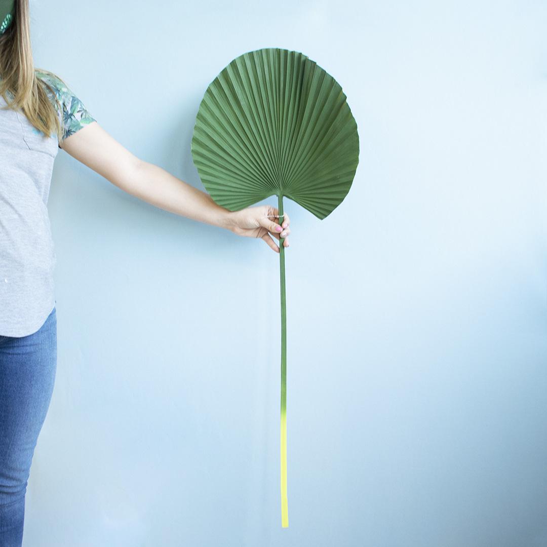 Folha Artificial de Palmeira Leque Toque Real Grande | Folhas Permanentes