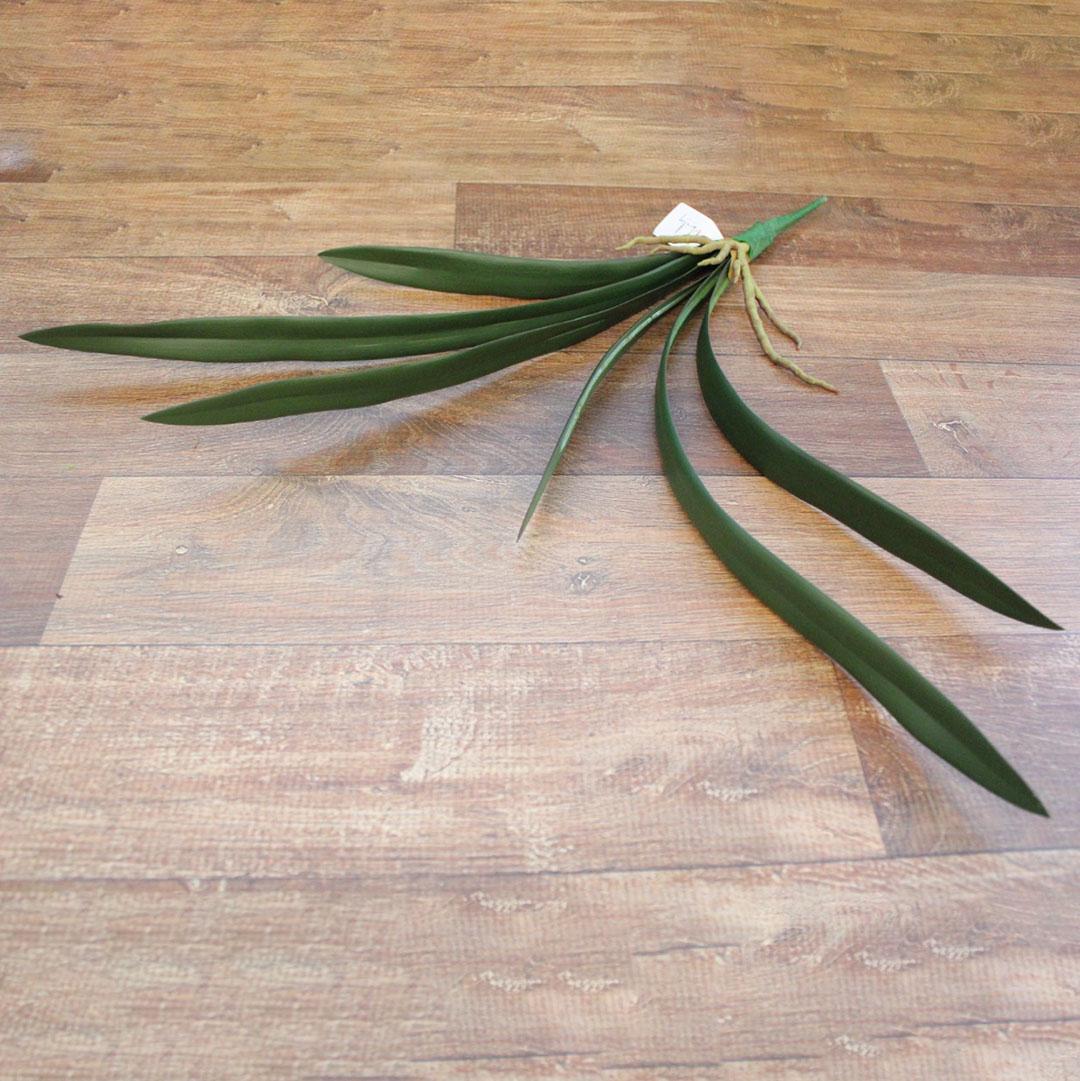 Folha de Orquídea Artificial X6 Cymbidium Toque Real