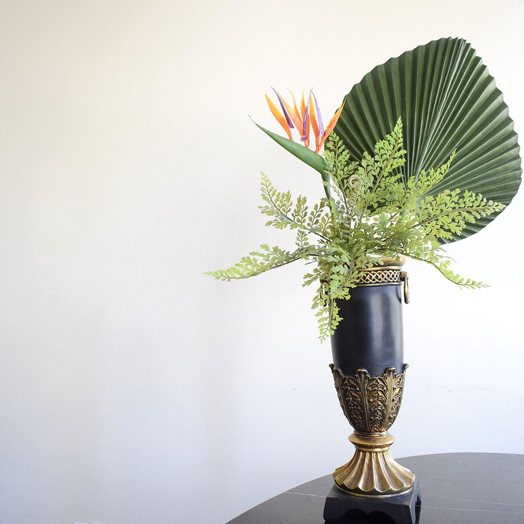 Folhas Permanentes | Folhagem de Palmeira Leque 3D Artificial