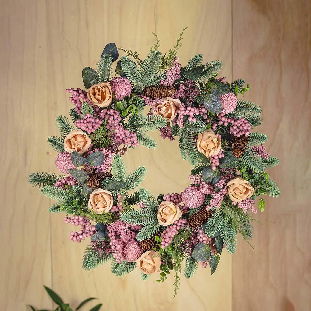 Guirlanda de Flores Artificiais Rosas 64cm | Formosinha