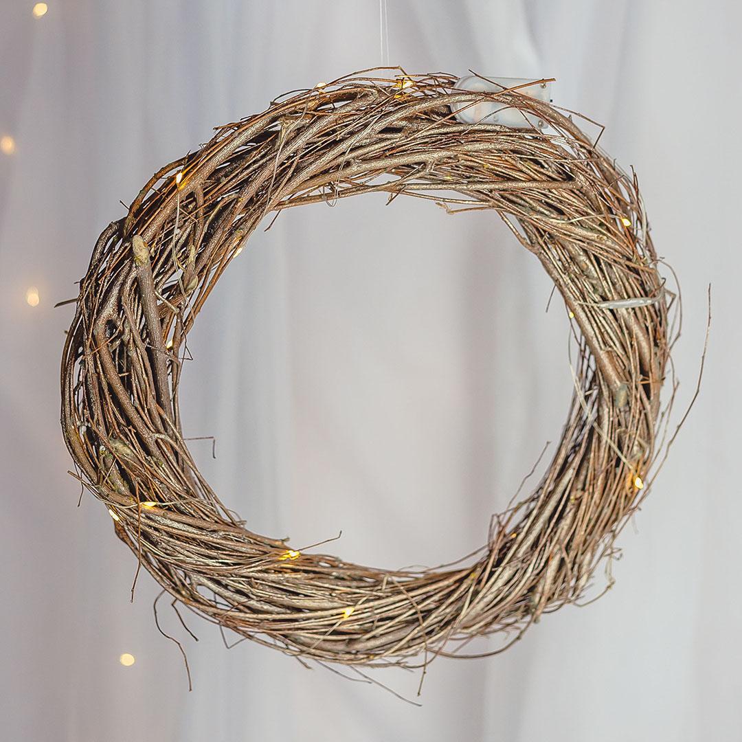Guirlanda Natural com Luzes de Led 30cm | Natal Formosinha