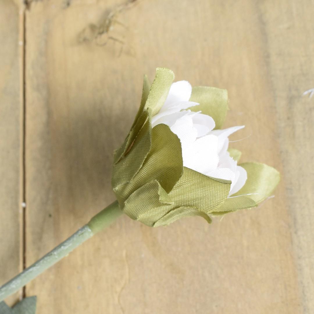 Flor Artificial Haste de Dália Off-White | Linha Permanente Formosinha