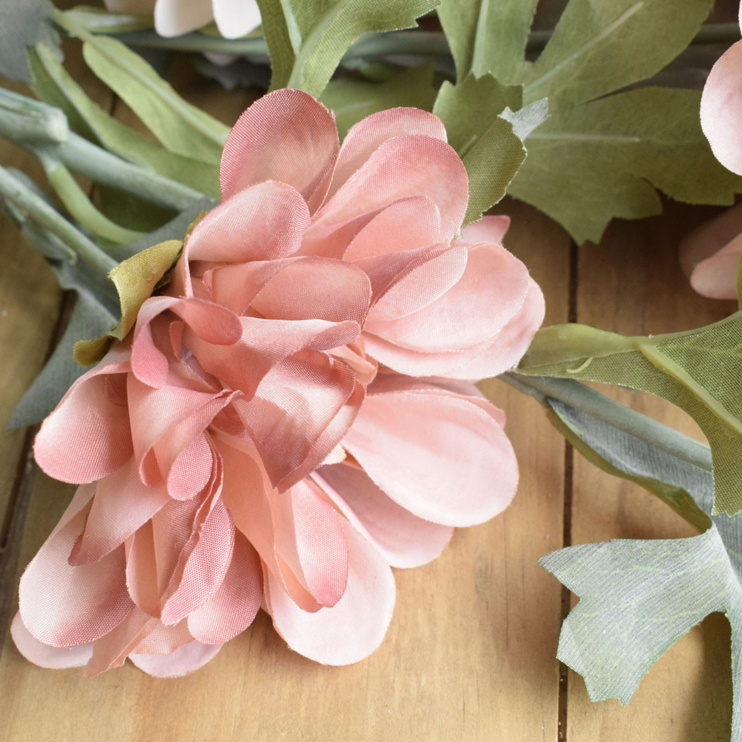 Flor Artificial Haste de Dália Cor de Rosa| Linha Permanente Formosinha