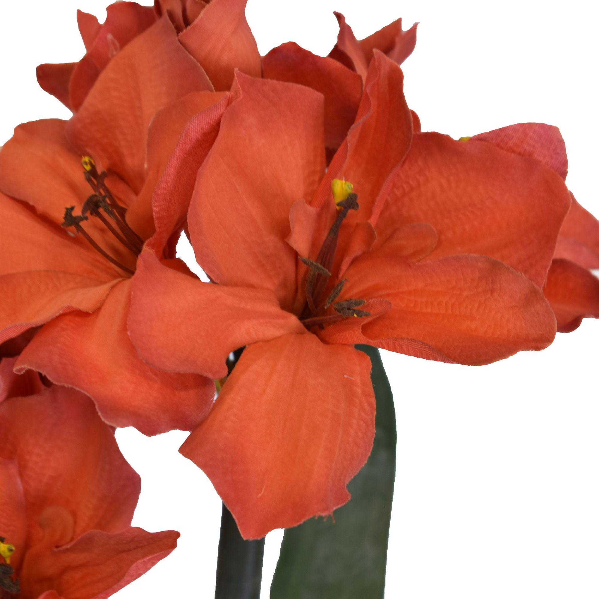 Flores artificiais Haste de Amarílis Duplo Vermelho|Linha permanente Formosinha