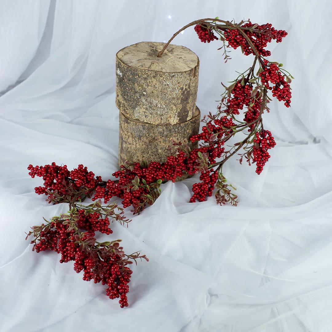 Galho Haste Artificial de Berry 130cm | Natal Formosinha