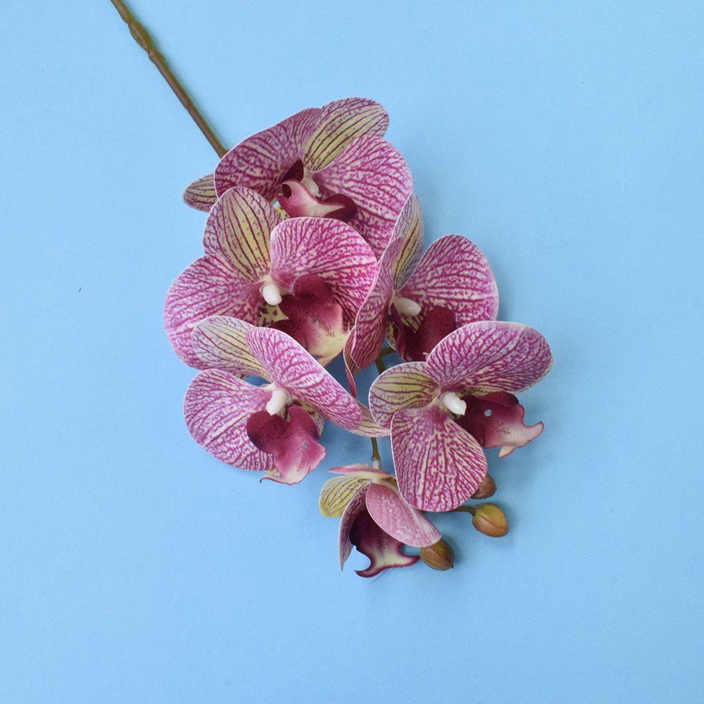Flores artificiais Haste de Orquídea 3D Rosa | Linha Permanente Formosinha