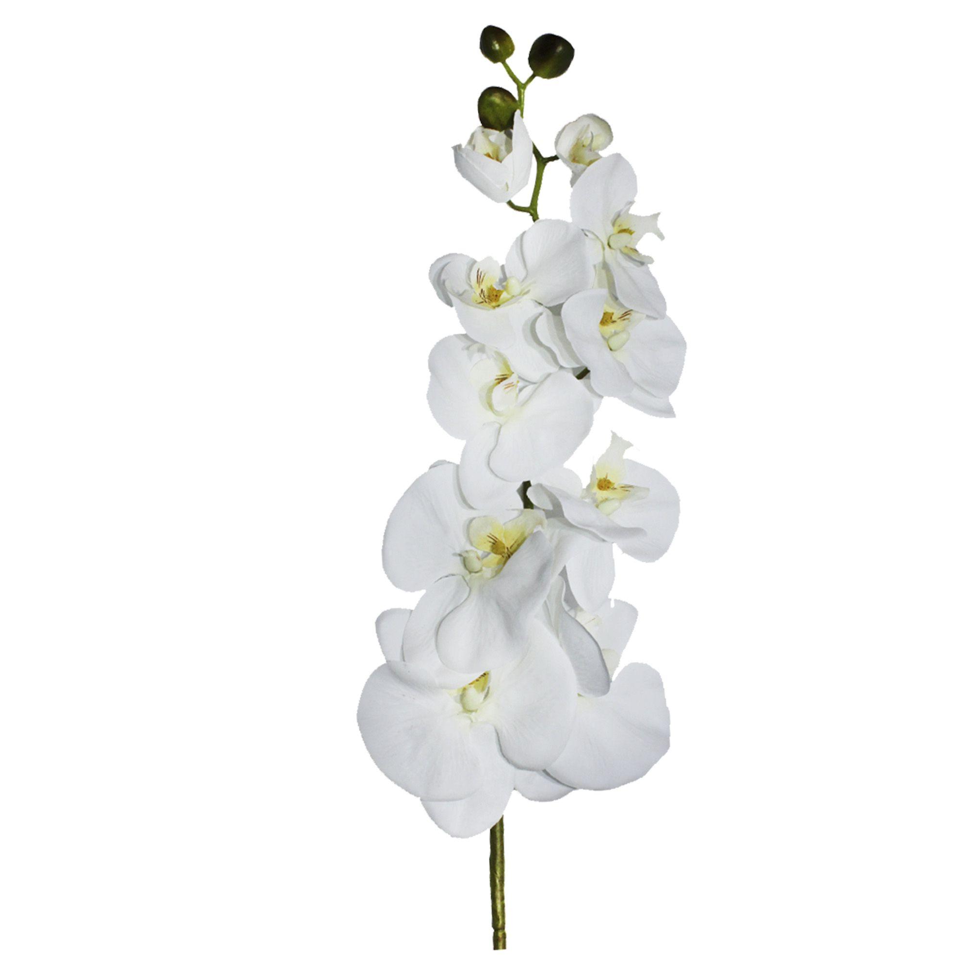 Flores Artificiais Haste de Orquídea Branca | Linha Permanentes Formosinha
