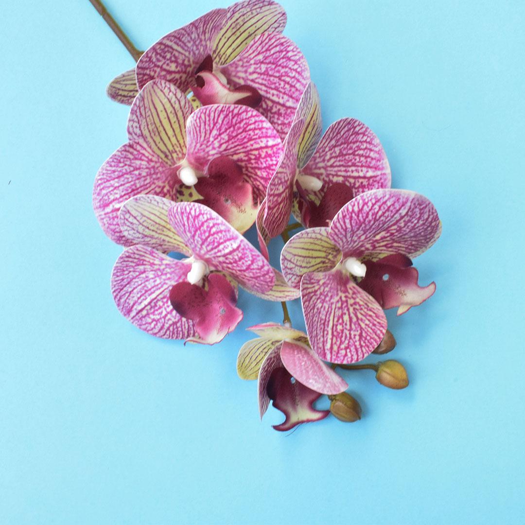 Haste de Orquídea Artificial Rosa 3D - Kit 6 Unidades | Formosinha