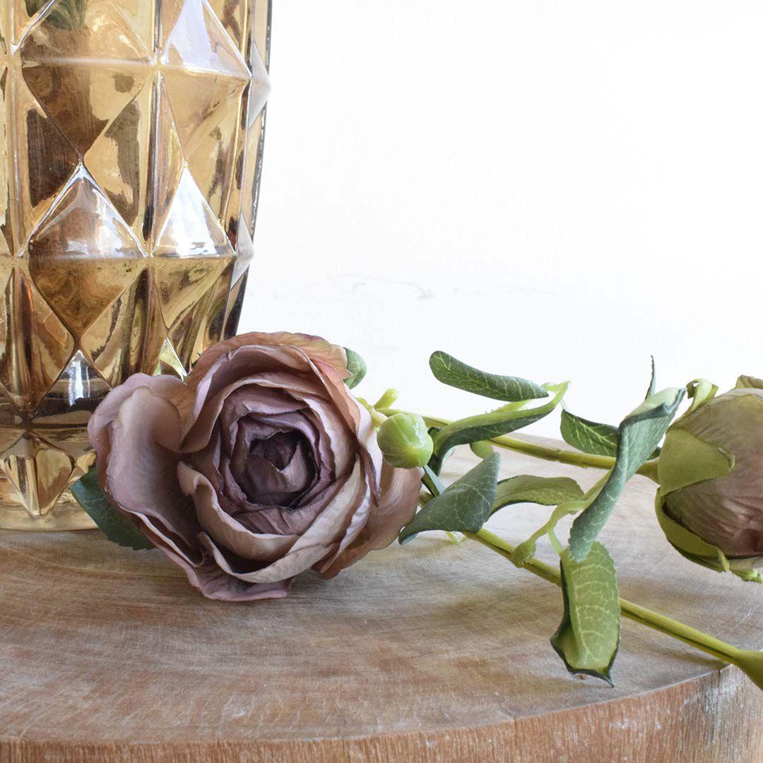 Haste de Rosas Envelhecidas Artificial | Linha Permanente Formosinha