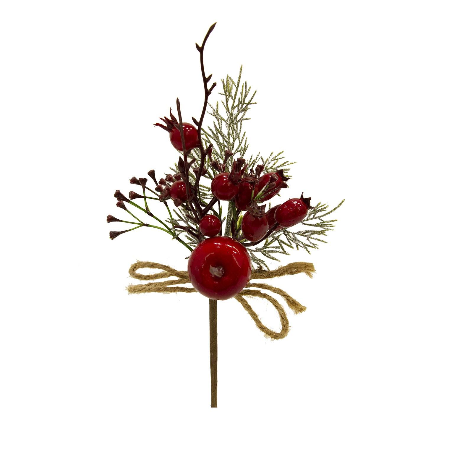 Haste Natalinas Berry e Romã 24 cm Luxo | Linha Natal Encantado