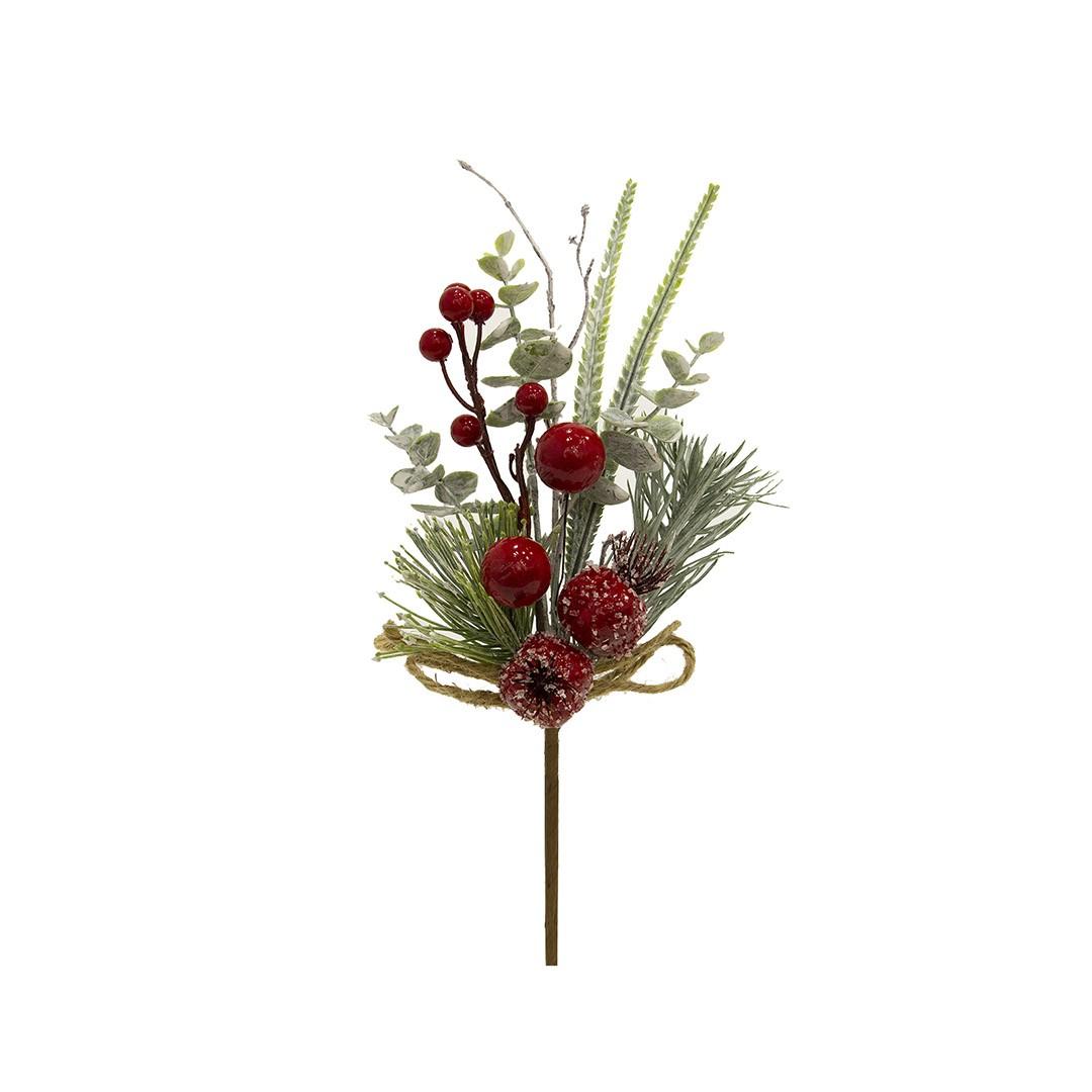 Haste Natalinas Berry e Romã 34 cm Luxo | Linha Natal Encantado