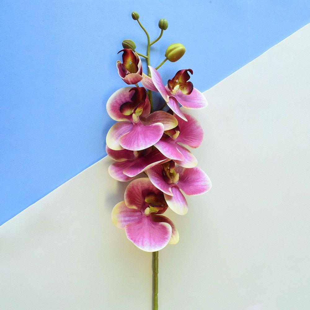 Flores Artificiais - Haste de Orquídea Rosa 3D | Linha permanente Formosinha