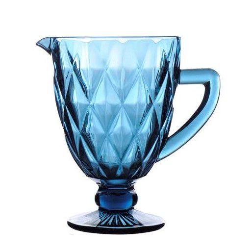 Jarra de Vidro Diamante Azul